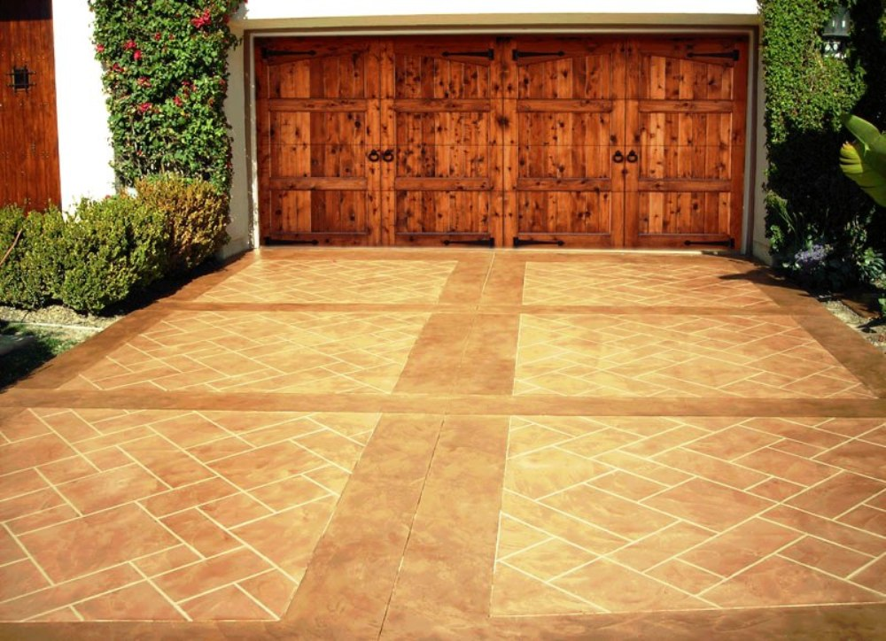 Stamped Concrete Driveways : Repair renew your concrete driveway or garage floors