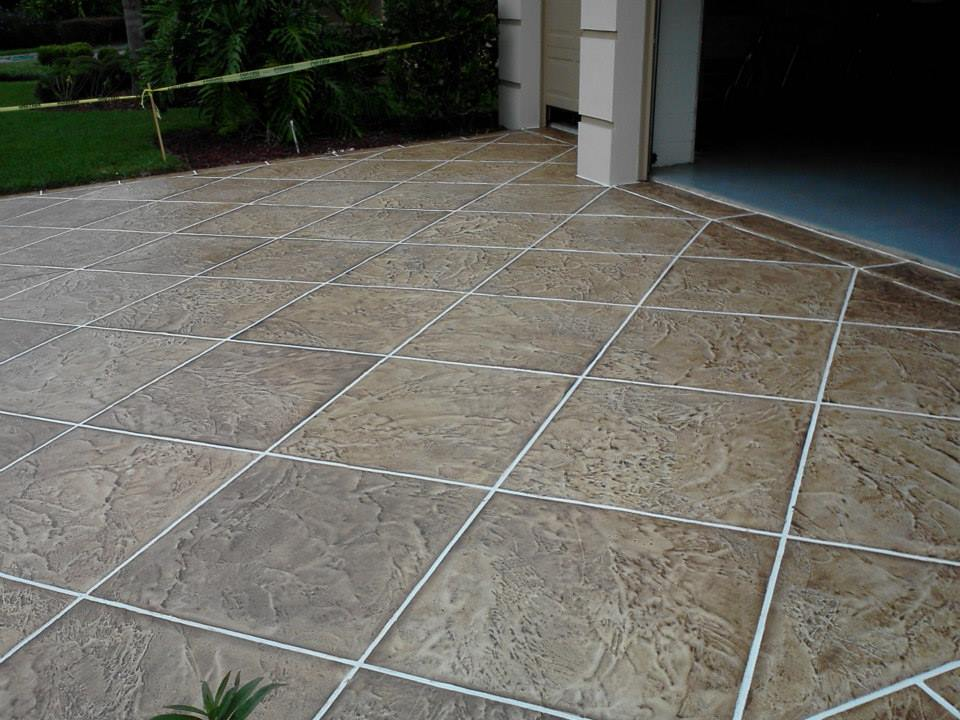 Stone medic marble terrazzo stone tile and grout is for Tile driveway
