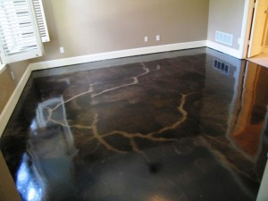 Eco Stained Black Concrete Floor Staining