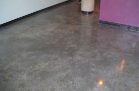 Commercial Space with Stained Concrete Floors
