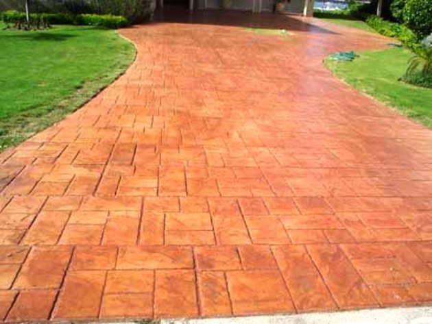 Stamped Concrete Garage : Repair renew your concrete driveway or garage floors