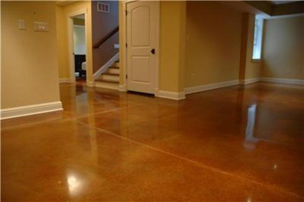 Tampa concrete polishing stone medic for Stained polished concrete floor